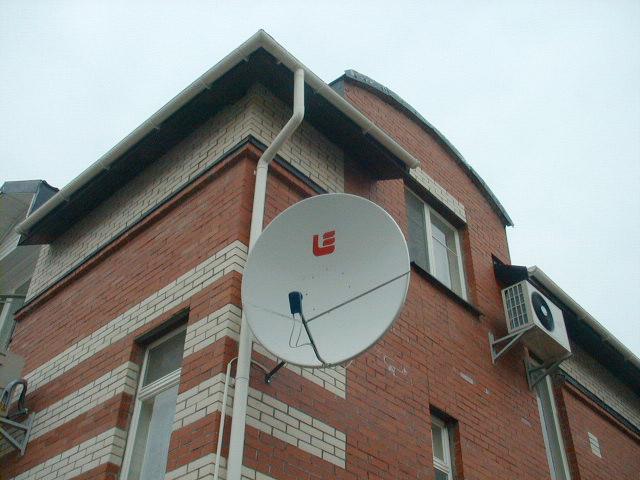Установка спутниковой антенны 1